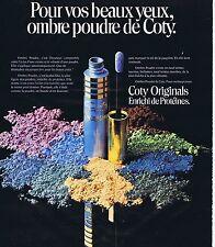 PUBLICITE ADVERTISING 045 1975 COTY ORIGINALS enrichi de Protéines