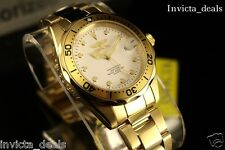 NEW Invicta Men's Pro Diver 38mm 18K Gold IP White Dial Stainless Steel Watch