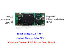 3.7V Lithium Li-ion 18650 Battery Stepup Constant Current LED Driver Boost Board