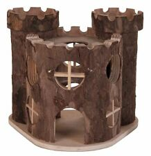 Matti Play Castle 2 Storey Natural Wooden House for Gerbils Mice & Hamsters
