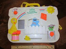 Vintage Fisher Price Busy Box Board Activity Center Baby Toy Crib Rail Sound C