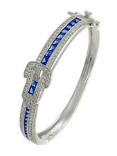 Blue Art Deco Bangle Bracelet | 1920s Antique Style | CZ by Kenneth Jay Lane NEW