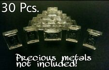 Lot of 30 X 1 Gram .999 Fine Silver Gold Bar Acrylic Holders / Fractional Cases