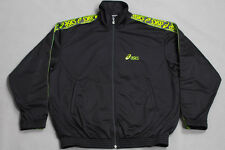 ASICS VTG 90'S CASUAL TRACKSUIT TOP JACKET JACKE SMALL SHINY BLACK