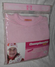 New Quality 2-Piece Lt Pink Size 12 Mths Girls Thermal Underwear Set Long Johns