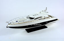 Sunseeker Predator 62 Yacht Handmade Wooden Boat Model RC Convertible 34""
