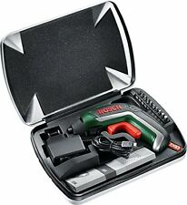 BOSCH IXO Cordless Screwdriver +10 Screwdriver Bits + METAL CASE BUNDLE . NEW