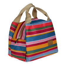 HOT Thermal Insulated Lunch Box Tote Cooler Zipper Bag Bento Lunch Pouch