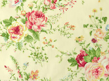 Patchworkstoffe Stoffe Lecien Rosenstoffe rote rosa gelbe Rosen auf Creme BW