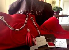 Authentic Gucci Soho Hobo RED Medium Shoulder Bag Style #308982 Retails at $1980