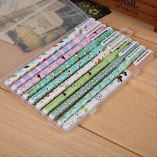 10PCS Cute Little Korean Stationery Watercolor Pen Gel Pens Set Color Kandelia 2