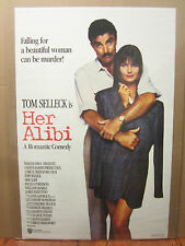 vintage Her Alibi  Tom Selleck movie Poster 1988 1412