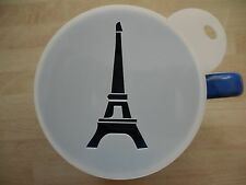 Laser cut eiffel tower design coffee and craft stencil