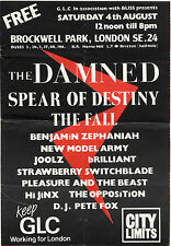 THE DAMNED FALL NEW MODEL ARMY SPEAR OF DESTINY Brockwell Park Program 1984