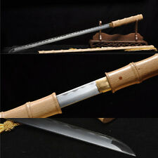 "39""1060 CARBON STEEL WHITE WOOD SHARP  FULL TANG JAPANESE SAMURAI KATANA"