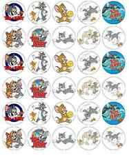 Tom And Jerry Cupcake Toppers Edible Wafer Paper BUY 2 GET 3RD FREE