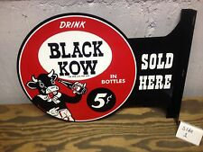 VINTAGE STYLE BLACK KOW DOUBLE SIDED GENERAL STORE PUB MAN CAVE DISPLAY SIGN
