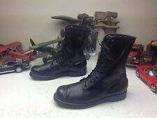 1967 VINTAGE ENDICOTT JOHNSON MILITARY USA BLACK LEATHER LACE UP COMBAT BOOTS 9R