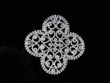 1 x 80 70mm Kristall Strass Motif Applikation Flicken Hochzeit Zum Aufnähen
