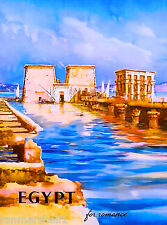 Egypt Luxor for Romance Egyptian Africa Vintage Travel Advertisement Art Poster