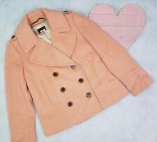 j.crew wool winter pea coat double breasted light pink peach size 2 petite