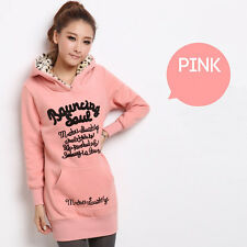 Womens Tracksuit Hooded Hoodies Sweatshirt Casual Velvet Long jacket Slim Tops