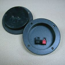 pair of spring loaded round speaker terminal plates
