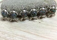 6 Little Frog Stitch Markers (SNAG FREE)- Handmade Knitting Tools