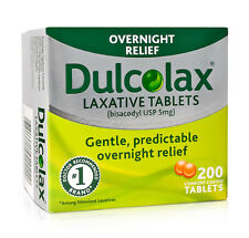 200 Dulcolax Laxative Tablets (bisacodyl USP 5mg), BNIB and Sealed, EXP 01/2019