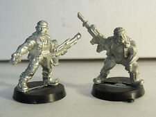 1992 Imperial Guard Metal Astra Catachan Devils Squad of 2 Warhammer 40k