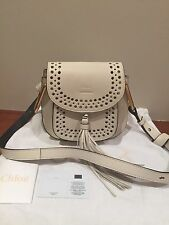 New! 100% AUTH CHLOE Hudson Mini Perforated Leather Cross Body bag MSRP $1990