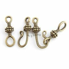 20x Vintage Charms Antique Bronze Tone Alloy Hook IQ Toggle Clasp Findings DIY D