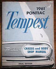 1961 Pontaic Tempest Service Chassis & Body Shop Repair Manual 61 OEM GM