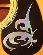 Guitar Pick Guard Decal Butterfly Vinyl Decal / Sticker