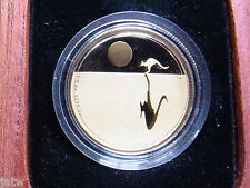 AUSTRALIA. 2010 25 Dollars - Kangaroo at Sunset - 1/5oz Gold ...Proof..  # 0509