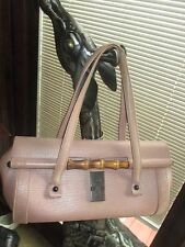 GUCCI TOM FORD BAMBOO BULLET PINK LEATHER SATCHEL BAG, LQQK!!