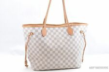 Authentic Louis Vuitton Damier Azur Neverfull MM Tote Bag N51106 LV 28059