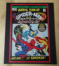 Ready to Frame Spiderman Marvel Team Up 1 Cover from a reprinted comic 10 x 8