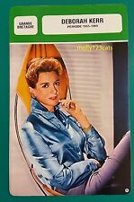 British Film & TV Actress Deborah Kerr (Period 1955-69)  French Film Trade Card