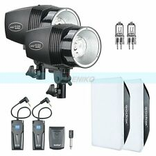 Godox 360W(2x180W) Studio Strobe Flash Light + Trigger Softbox Modeling Lamp Kit