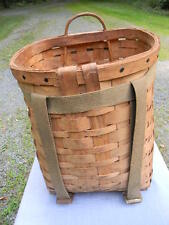 Vintage Adirondack Trappers Pack Basket, Trapping, Hiking, Cabin Decor