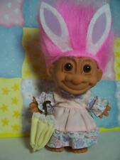 "EASTER BUNNY/RABBIT GIRL w/PARASOL - 5"" Russ Troll Doll - NEW IN ORIGINAL BAG"