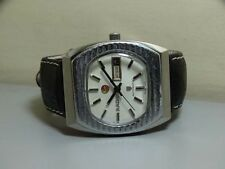 Vintage Rado AUTOMATIC Day Date Wrist Watch Swiss Made E779 Old Used Antique