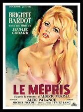 LE MEPRIS * CineMasterpieces FRANCE ORIGINAL MOVIE POSTER BRIGITTE BARDOT 1963