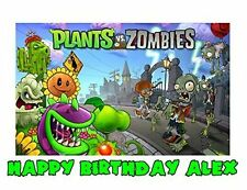 Plants Vs Zombies Edible icing Image for !/4 Sheet Cake