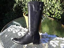 K BY CLARKS LEATHER WIDER CALF FIT RIDING STYLE KNEE HIGH BOOTS SIZE 7