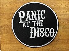 PANIC AT THE DISCO Rock Goth Punk Music Band Embroidered Sew Iron On Patch black