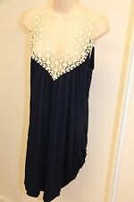 New Kenneth Cole Swimsuit Cover Up Dress Sz L Navy