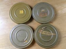 "Vintage Set of 4 SUPER 8 - 5"" DUAL 8 CAN CANISTER WITH REELS - J M Fields Kenco"