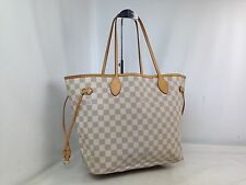 Auth Louis Vuitton Damier Azur Neverfull MM Shoulder Tote Bag 7C310230#